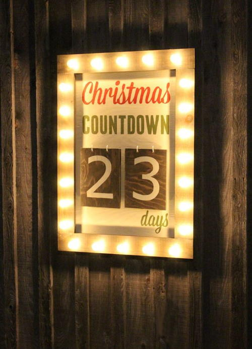 Christmas Countdown DIY Marquee Sign