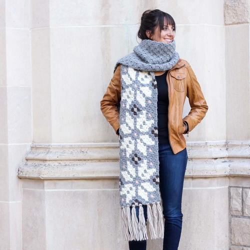 The Winter Wanderer Crochet Scarf