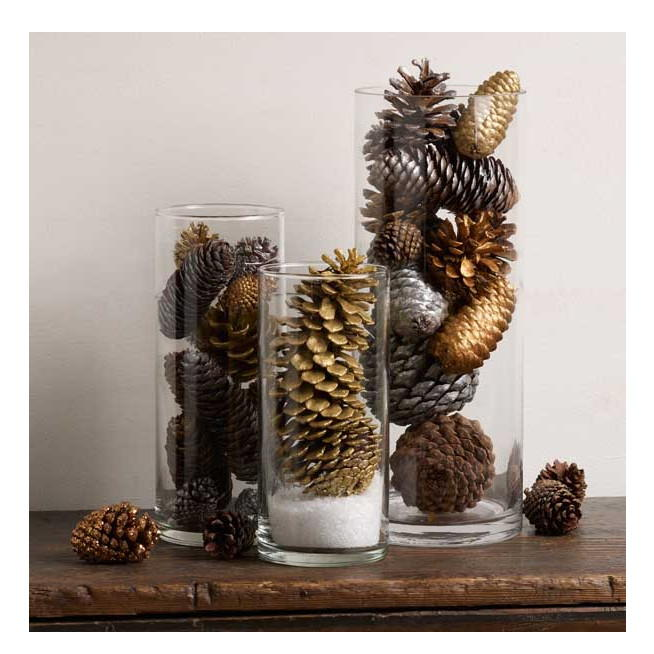 Glittering Pine Cone Table Decorations