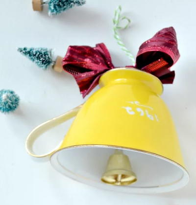 Teacup Bell Homemade Christmas Ornament