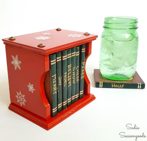 Upcycled Party Coaster Christmas Craft