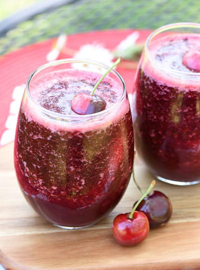 Cheerful Cherry Vanilla Wine Slushies