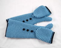 Cosmic Convertible Crochet Fingerless Gloves