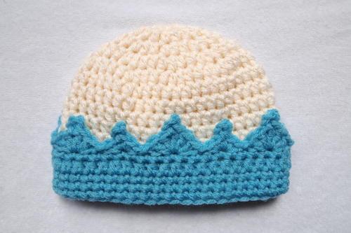 Hand Crochet Granny Stitch New Born Baby Hat Beanie