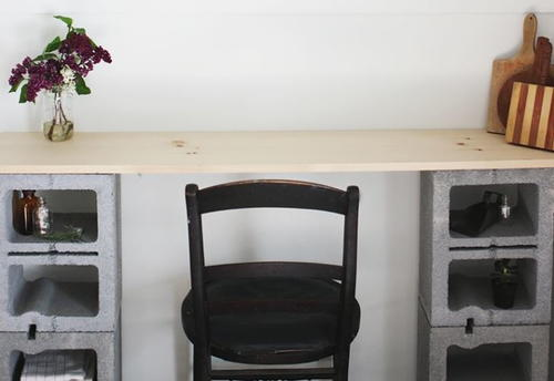 Cinder Block Table Tutorial