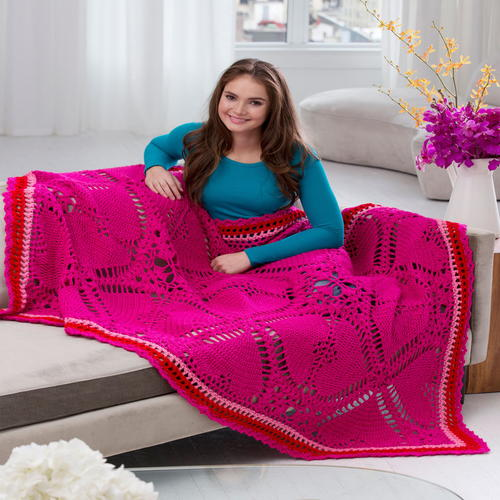 Love My Valentine Crochet Throw