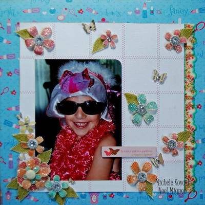 Fancy Floral Mixed Media Scrapbook Layout