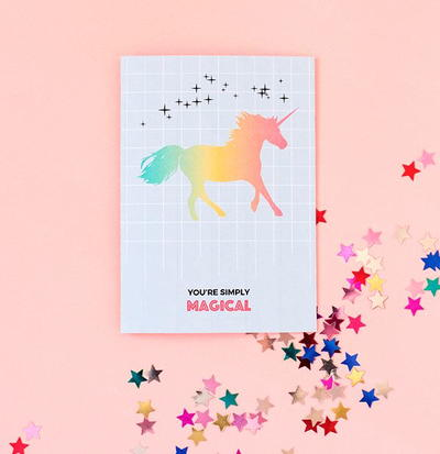 Magical Unicorn Printable Greeting Card