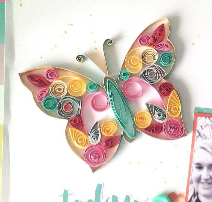 Pretty Pastel Paper Quilled Butterfly Allfreepapercrafts Com