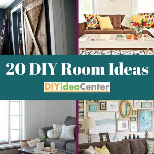 20 DIY Room Ideas | DIYIdeaCenter.com