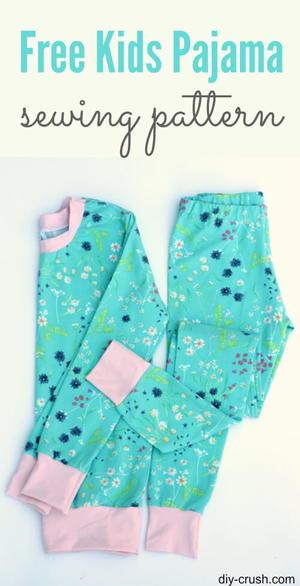 photo relating to Printable Pajama Pants Pattern named Young children Pajama Habit