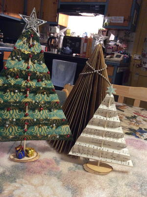 Beautiful Paper Tabletop Christmas Trees