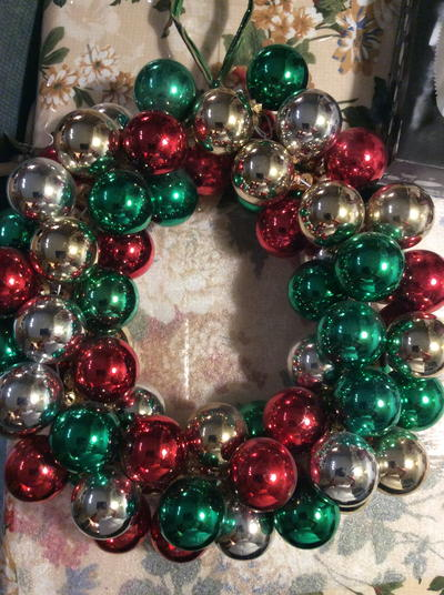 Vintage Ball Ornament Wreath