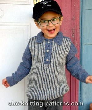 Boy's Sporty Brioche Sweater