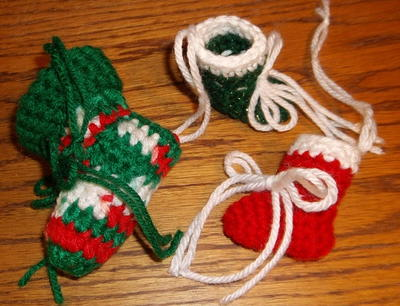 Mini Tree Stocking Ornaments