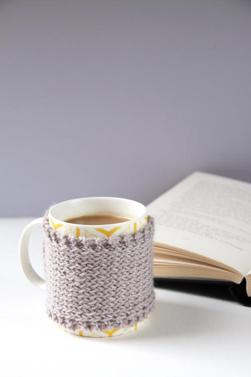 Gray Days Knitted Mug Cozy