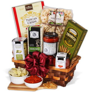 Gourmet Gift Baskets Table in Tuscany Italian Gift Basket Giveaway