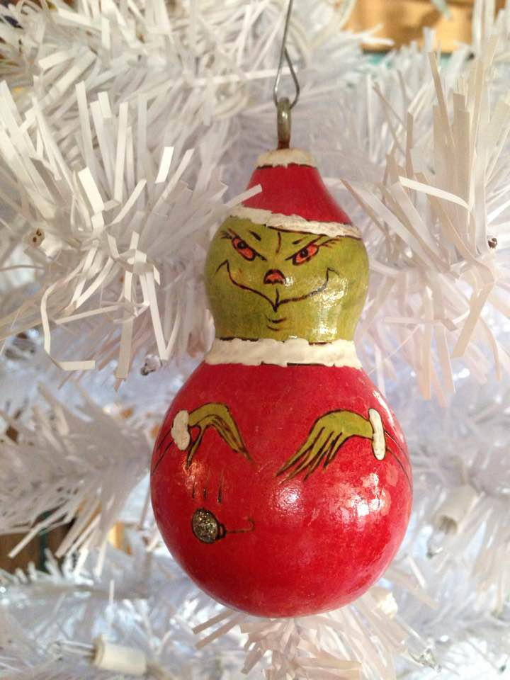 The Grinch Gourd Ornament Favecrafts Com
