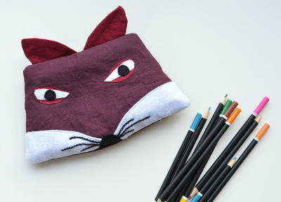 Fox Pencil Case Pattern