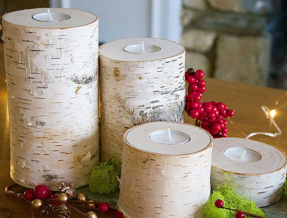 Wooden Rustic Diy Candle Holders Diyideacenter Com