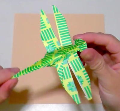 Patterned Origami Dragonfly