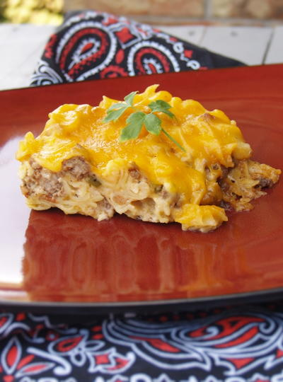 Bacon Cheeseburger Noodle Casserole