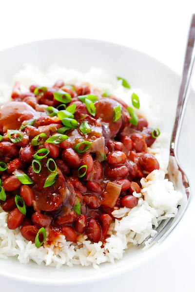 Slow Cooker Creole Red Beans and Rice