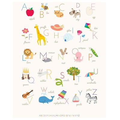 Adorable Alphabet Printable Wall Art