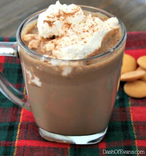 Slow Cooker Hazelnut Hot Chocolate
