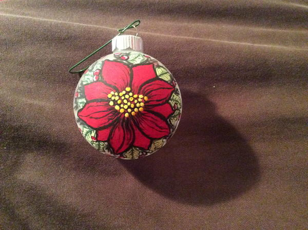 The Christmas Flower Painted Ornament