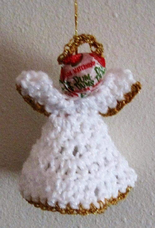Lollipop Angel Ornament