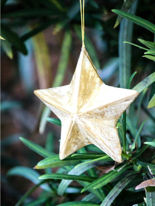 DIY Antique Star Ornaments