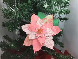 Paper Poinsettia Ornament