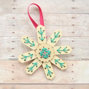 DIY Embroidery Ornaments