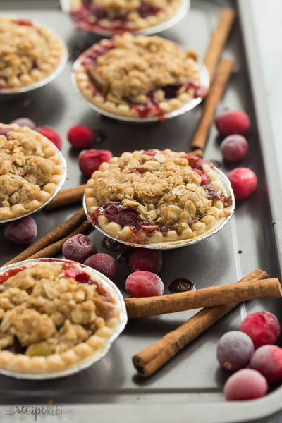 Cider Spiced Cranberry Apple Pies