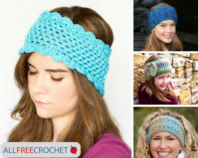 24 Crochet Ear Warmers Allfreecrochetcom