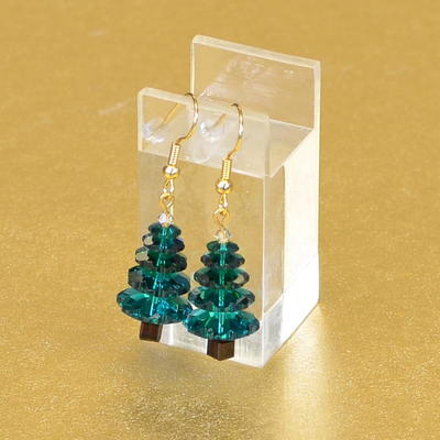 Swarovski Christmas Tree Handmade Earrings