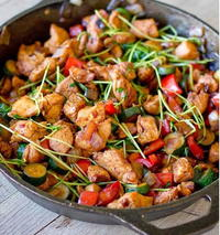 The Healthiest Asian Chicken Stir Fry