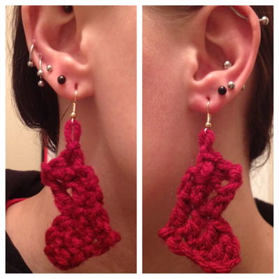 Crochet Stocking DIY Earrings