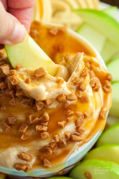 Peanut Butter Toffee Dip