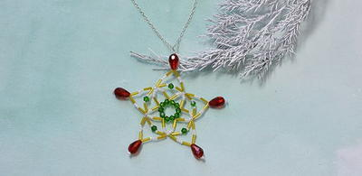 Colorful Christmas Snowflake DIY Pendant