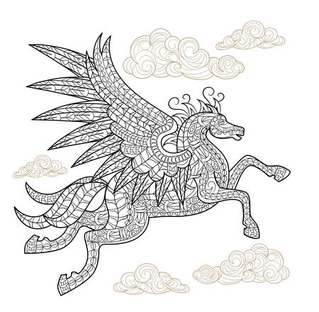 Playful pegasus coloring page for Coloring pages of pegasus