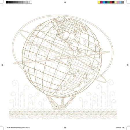 Crazy Detailed Globe Coloring Page