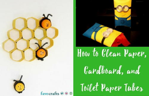 How to Clean Paper Cardboard and Toilet Paper Tubes