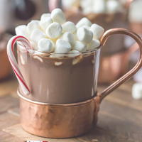 Slow Cooker Hot Chocolate with Peppermint