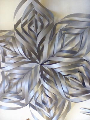 Shimmering Silver Spiral Snowflakes