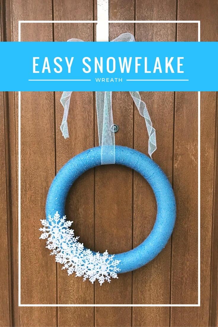 Easy Snowflake Yarn Wreath Allfreechristmascrafts Com