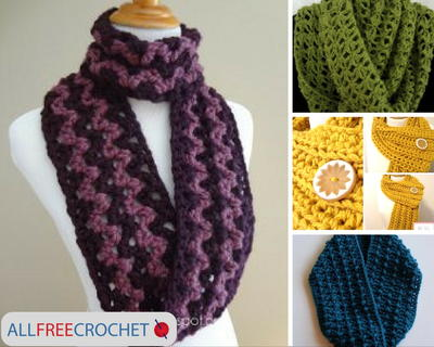 19 Quick and Easy Crochet Scarves