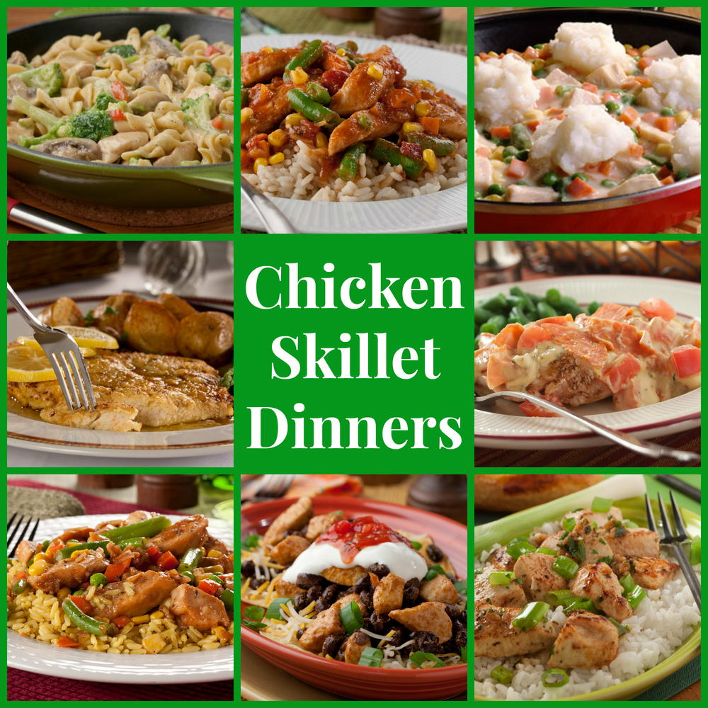 Stovetop Recipes: 14 Chicken Skillet Dinners