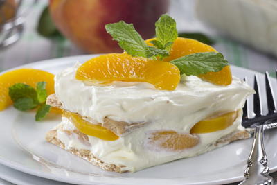 Peachy Keen Icebox Cake